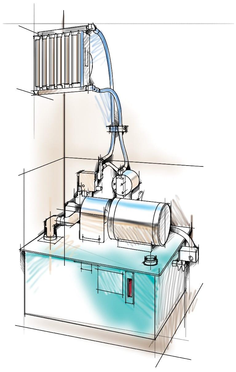 NOIL cooling system
