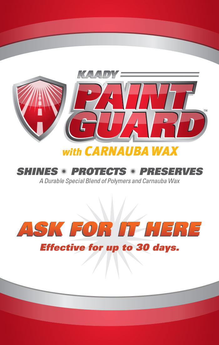 Paint Guard sign